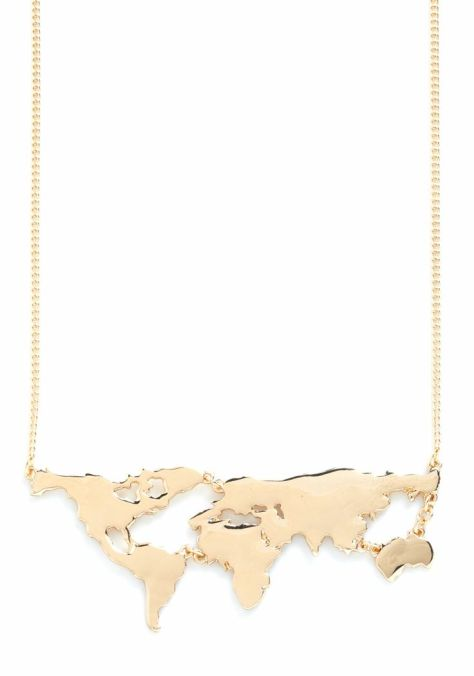 There's a Map for That Necklace in Gold $19.99 at Modcloth