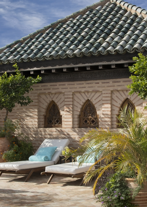 Rooftop lounging next to the rooftop pool :: Photo credit: La Sultana Hotels